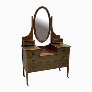 English Mahogany Dressing Table, 1930s