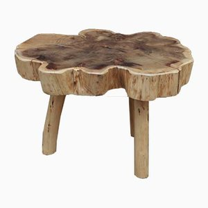 Racine Natural Wood Tripod Coffee Table, 1960s