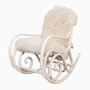 Sedia a dondolo antica di Thonet