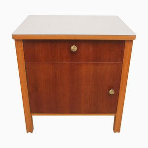 Bicolor Nightstand with Gray Formica Top, 1950s