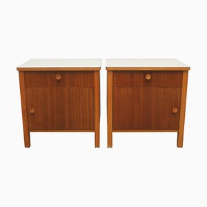 Nightstands with Light Gray Formica Tops, 1950s, Set of 2