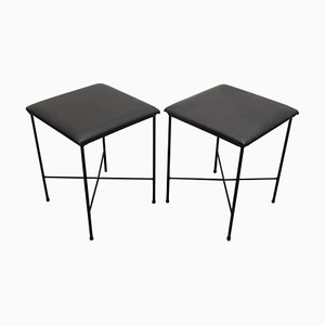 Black Stools, 1960s, Set of 2