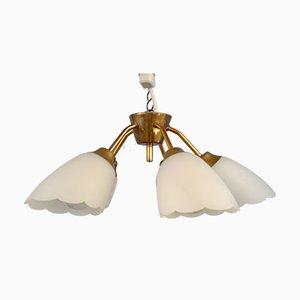 Mid-Century Swedish 5-Armed Ceiling Lamp