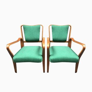Bentwood Lounge Chairs by G A Jenkins for Packet Furniture, 1940s, Set of 2
