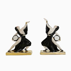 Art Deco Ceramic Bookends by Robj Paris, France, 1920s, Set of 2