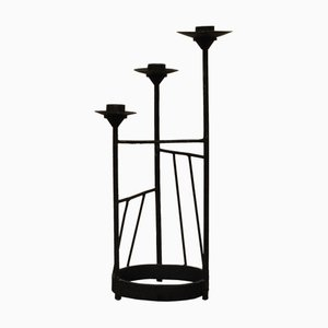 XL Brutalist Steel Candleholder, 1960s