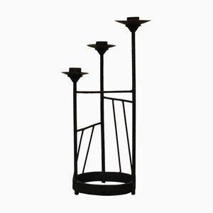 XL Brutalistischer Kerzenständer aus Stahl, 1960er