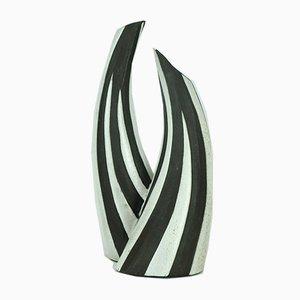 Vase à Col Arrondi Negro par Marianne Starck pour Michael Andersen, Danemark, 1960s
