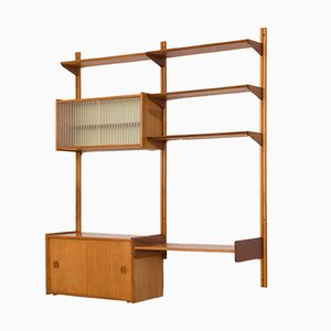 Norwegian Teak Wall Unit with 2 Cabinets & 1 Desk from Sven Andersen Møbelfabrikk, 1960s