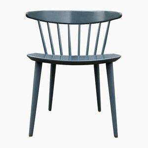 Petrol Blue J104 Chair by Jørgen Bækmark for FDB, 1967