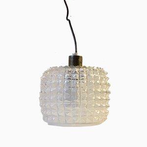 Glas Deckenlampe mit Rautenmuster von Vitrika, 1960er