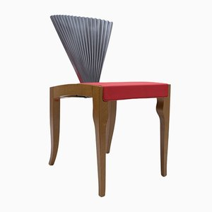 Wood & Metal Fan Chair from Cattelan Italia, 1980s