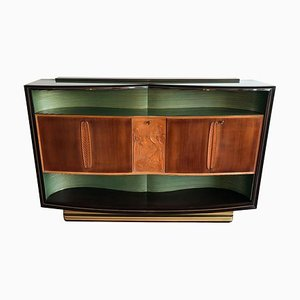 Italian Walnut Sideboard with Relief Carvings by Vittorio Dassi for Dassi Mobili Moderni, 1950s