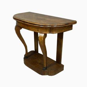 Empire Mahogany Demilune Console Table / Game Table, Circa 1850