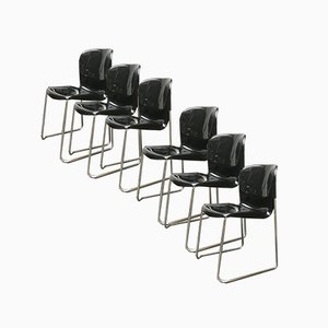 Vintage German Space Age SM 400K Stacking Dining Chairs by Gerd Lange for Drabert, Set of 6