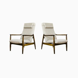High Back GFM-64 Armchairs by Edmund Homa for GFM, 1960s, Set of 2