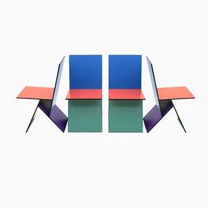 Chaises Vilbert par Verner Panton, 1993, Set de 4