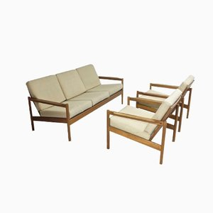 Model 161 and Model 163 Lounge Set by Kai Kristiansen for Magnus Olesen, 1963