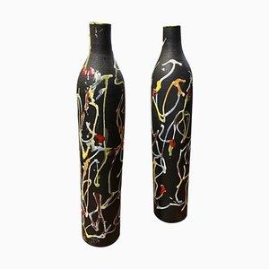 Modernistische Italienische Keramikvasen von Ceramiche di Albisola, 1970er, 2er Set