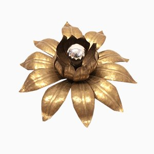 Brass Flower Flush Mount
