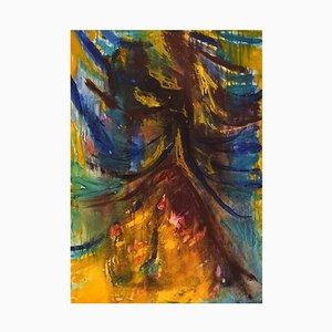 Ivy Lysdal, Gouache sur Carton, Peinture Abstraite Moderniste, Fin 20ème Arrondissement