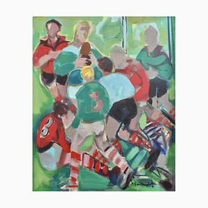 Rugby Five Nations Tournament: Ireland V Wales by Pierre Gaillardot, 1970s