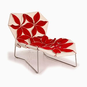 Antibodi Red & White Lounge Chair from Moroso