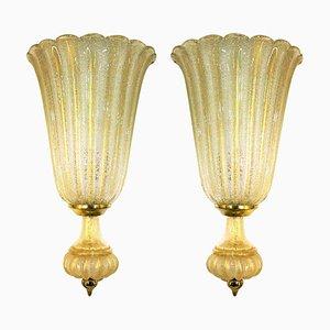 Große Wandlampen von Barovier & Toso, 2er Set