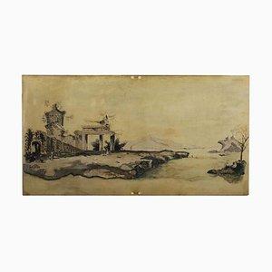 Panel grande de pinturas, témpera sobre madera