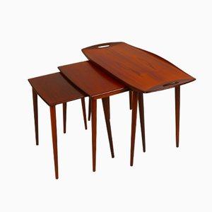 Tavolini a incastro di Jens Quistgaard, set di 3