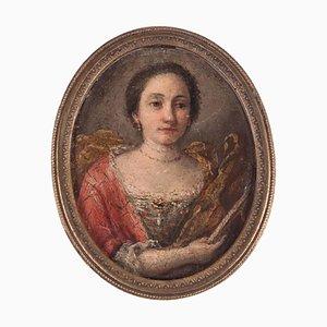 Female Portrait, Oil on Copper