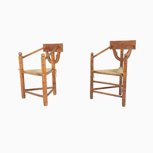 Mid-Century Swedish Monk Chairs, Set of 2