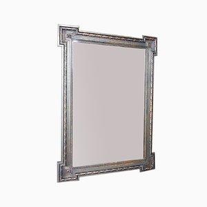 Antiker Spiegel mit verwittertem schwarzem Rahmen
