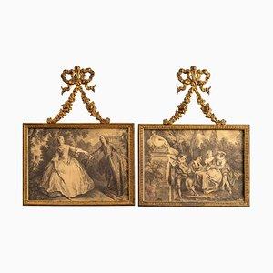 Rahmen aus Vergoldeter Bronze im Louis XV Stil, 2er Set