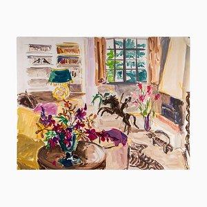 Interior de una casa burguesa, de papel