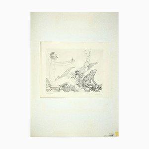 Leo Guida, Der Wahrsager und Verschiedene Tiere, Radierung, 1972