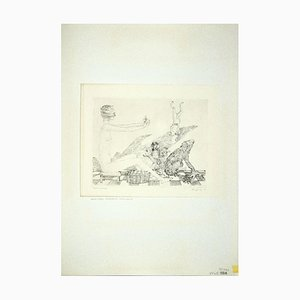 Leo Guida , The Fortune-Teller and Various Animals, Etching, 1972
