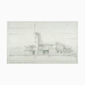 Inconnu, Sketch Casetta Rowing, Pencil, Mid-20th Century