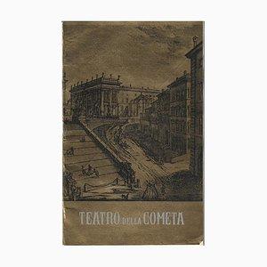 John Gielgud, Vintage Booklet Teatro Della Cometa avec Notes de Notes, 1960s