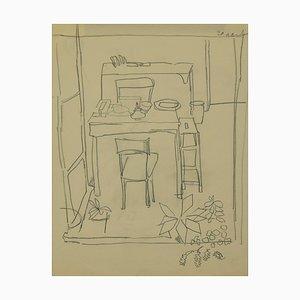 Herta Hausmann, The Dining Table, Pencil, Mid-20thth Century