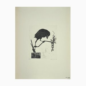 Leo Guida, The Raven, Etching on Paper, 1972