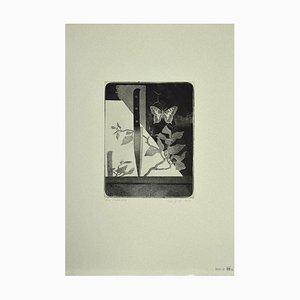 Leo Guida, Couteau et Papillon, Gravure à l'Eau-Forte, 1970