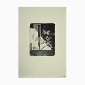 Leo Guida, Knife and Butterfly, Etching on Paper, 1970
