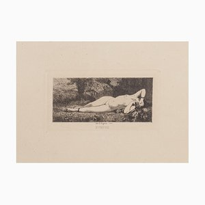 Robert Lefevre, Sleeping Nymph, Etching, 1866