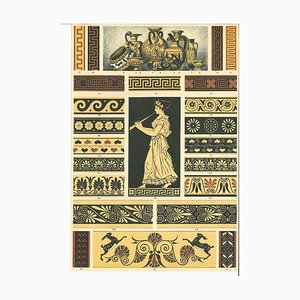 Unknown, Greek Decorative Motifs, Vintage Chromolithograph, Early 20th Century