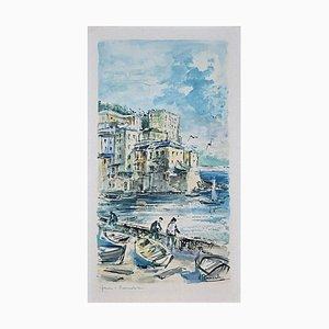A. Barnuvitor, Genova, Boccadasse, Vintage Offset Print, 20th Century
