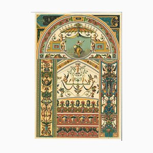 Unknown, Decorative Motifs, Vintage Chromolithograph, Early 20th Century