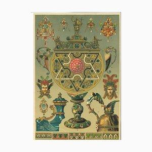 Unbekannte, Dekorative Motive der Französischen Renaissance, Lithographie, 20. Jahrhundert