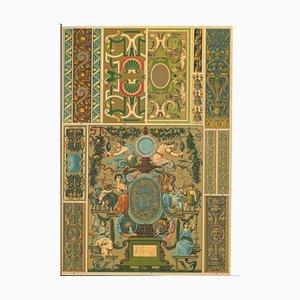 Motivo decorativo sconosciuto, Francia, cromolitografia, inizio XX secolo