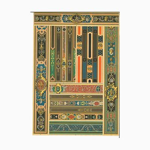 Unknown, Decorative Motifs of the French Renaissance, Chromolithograph, Early 20th Century